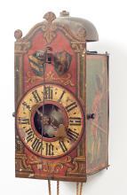 IRON CLOCK WITH FRONT PENDULUM,