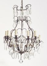CHANDELIER WITH CUT-GLASS HANGINGS,