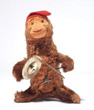 PLUSH MONKEY PLAYING CYMBALS,