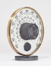 TABLE BAROMETER AND THERMOMETER,