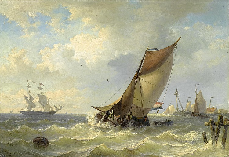 GRUYTER, WILLEM the younger(1817 Amsterdam