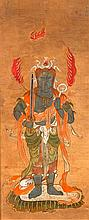 TWO PAINTINGS OF THE BUDDHIST DEITY RASETSUTEN AND