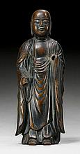 A BRONZE FIGURE OF THE STANDING JIZÔ. Japan, Edo