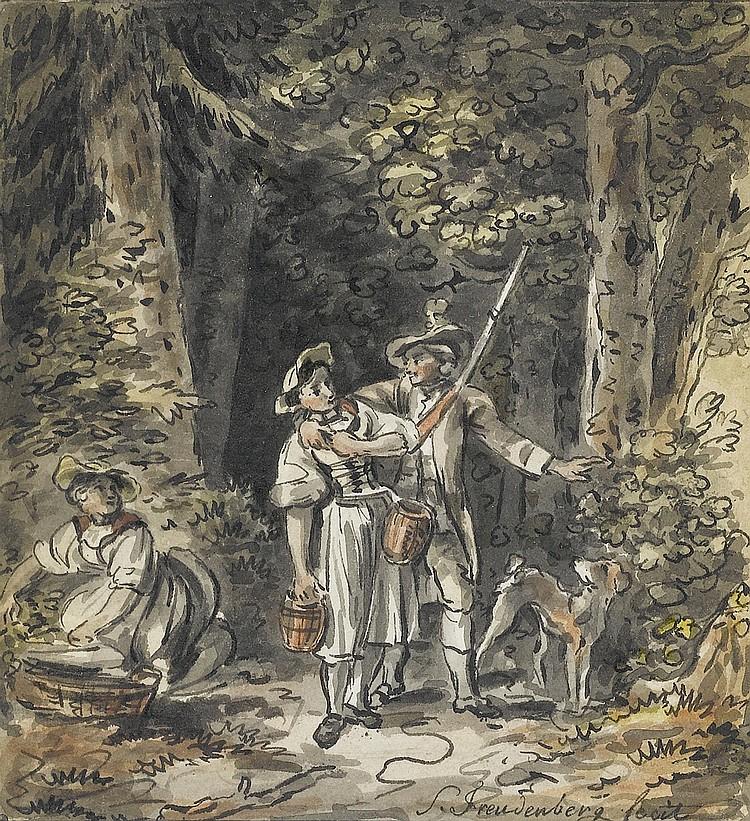 FREUDENBERGER, SIGMUND (1745 Bern 1801).Forest