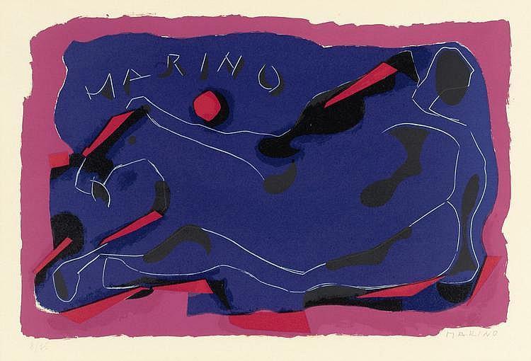 MARINI, MARINOCavallo. 1974.Lithograph. 8/75.