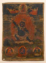 TANGKA OF CANDAVAJRAPANI. Tibet, 19th c. 66x47