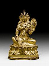 GREEN TARA.China/East Tibet, 19th c. H 13.3