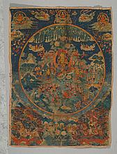 TANGKA OF TARA PARADISE.Tibet, 19th c. 90x69