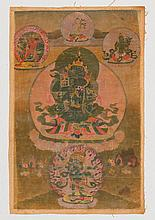 TANGKA OF YAB-YUM VAJRADHARA.Tibet, 19th c.