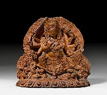 TERRACOTTA RELIEF.Nepal, 17th c. 23x