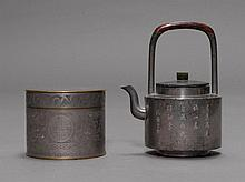 TEAPOT AND BOX.China, 19th c. H 8.6 und 17.8
