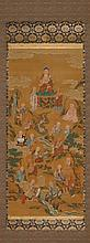 HANGING SCROLL.Japan, 20th c. 106x48.5 cm.Ink and