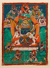 VOTIVE IMAGE OF JAMBHALA.Mongolian, 19th c. 22.5