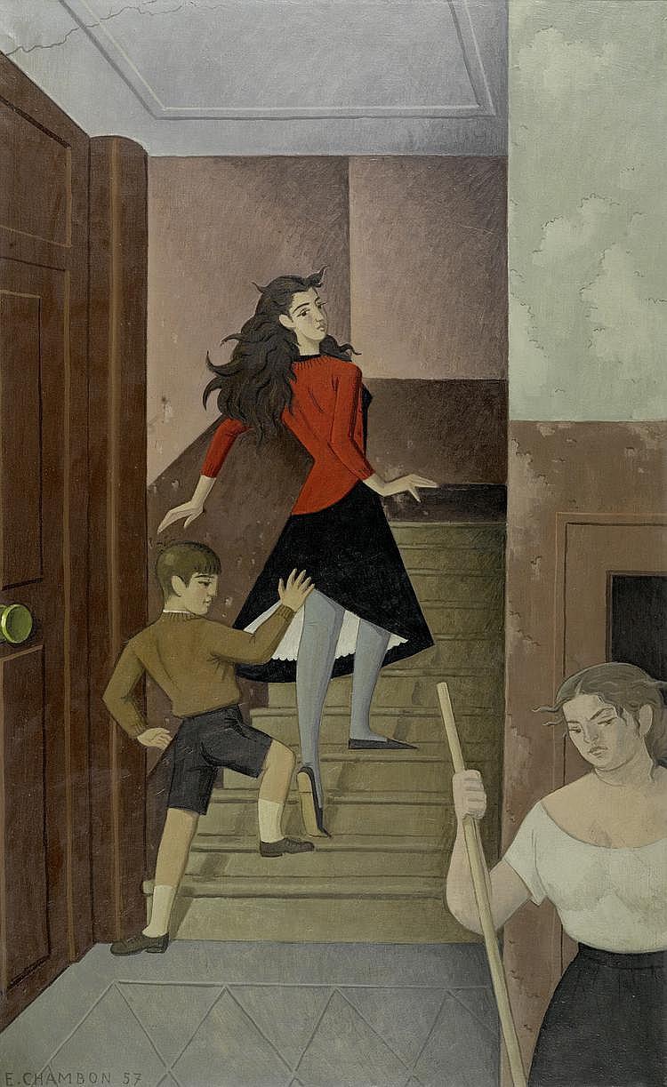CHAMBON, EMILE(1905 - 1993)Le petit curieux.