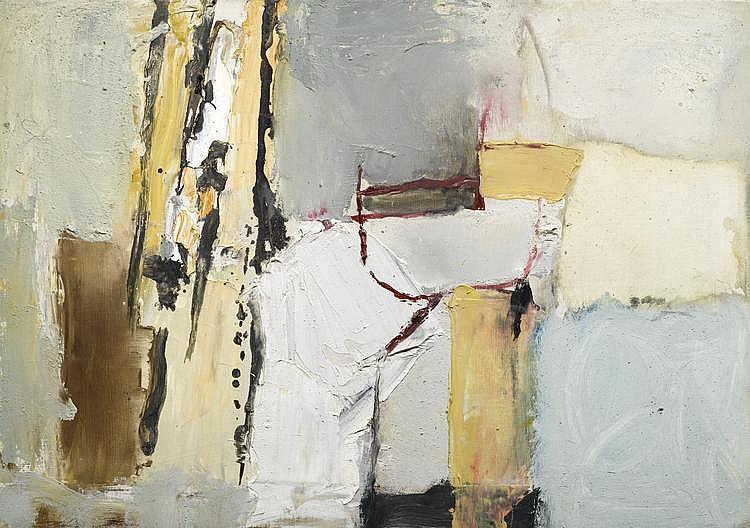 FALK, HANS(1918 Zurich 2002)Composition. 1960.Oil