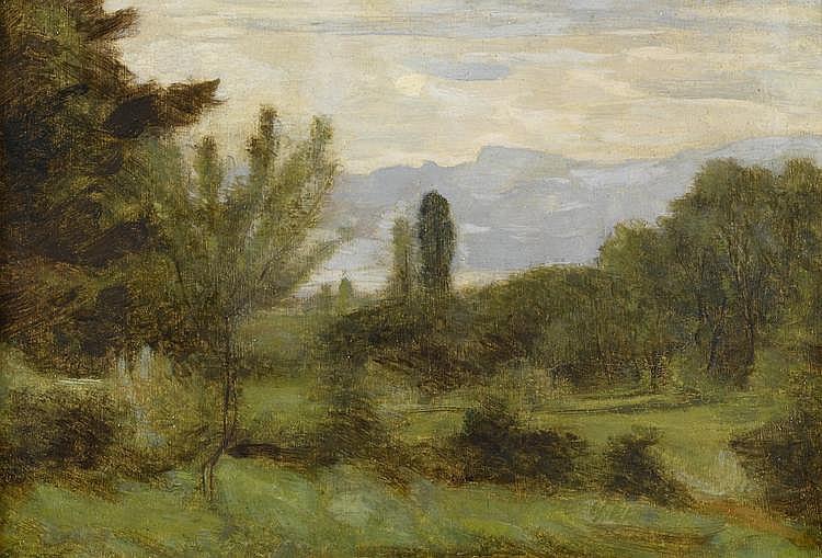 MENN, BARTHÉLEMY(1815 Geneva 1893)Vue sur le Lac