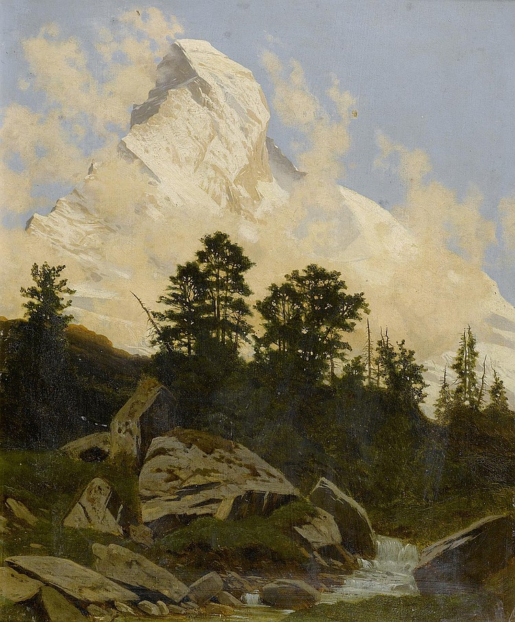 GOS, ALBERT (1852 - 1942). View of the Matterhorn