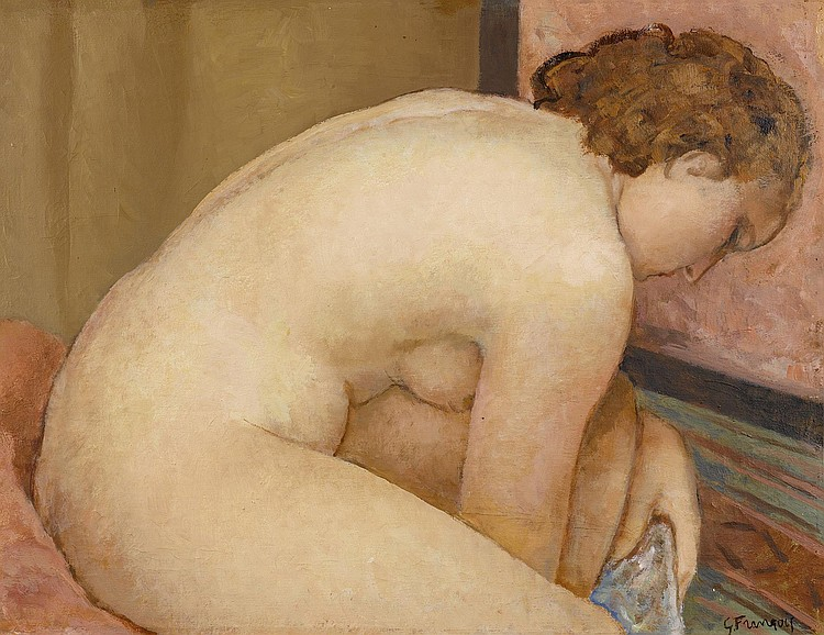 FRANÇOIS, GUSTAVE (1883 - 1964). Female nude. Oil