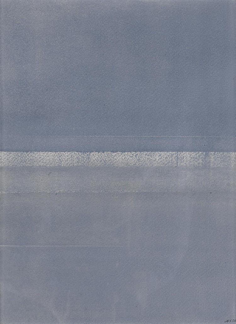 ASSE, GENEVIEVE (1923). Blue composition.