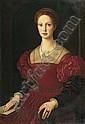 *BRONZINO, ANGELO Porträt der Lucrezia Borgia. Öl auf Leinwand. 100 x 70 cm., Agnolo Bronzino, Click for value