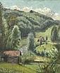 HUBER, HERMANN Landschaft, Vorgebirge. Öl auf Leinwand. 100 x 80,5 cm., Hermann (1888) Huber, Click for value