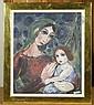 EINBECK, GEORGES Madonna mit Kind. 1948. Tempera auf Papier. 45 x 38 cm., Georges Einbeck, Click for value
