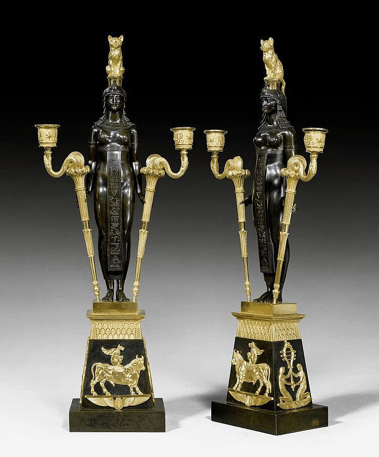 PAIR OF IMPORTANT CANDELABRA 'AUX