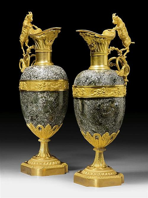 *PAIR OF IMPORTANT TWO-HANDLED JUGS