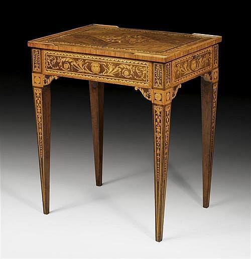 *WORK TABLE,Louis XVI, attributed to G. MAGGIOLINI (Giuseppe Maggiolini, Parabiago 1738-1814), Milan circa 1800.