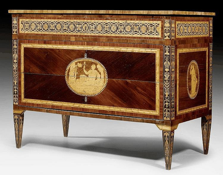 COMMODE,Louis XVI, stamped and dated G. MAGGIOLINI