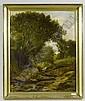 DONALD, JOHN MILNE (Nairn 1819 - 1866 Glasgow) Waldlandschaft mit Bach und Kühen. Öl auf Leinwand. 61 x 50,5 cm., John Milne Donald, Click for value