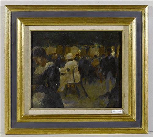 LAUTERBURG, MARTIN (1891 Neuenegg 1960) Hofgarten in München. 1948. Öl auf Hartplatte. 25,5 x 30,5 cm (Lichtmass).