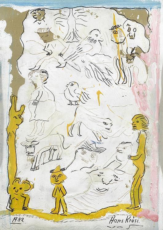 KRÜSI, HANS(Zurich 1920 - 1995 St. Gallen)Figure