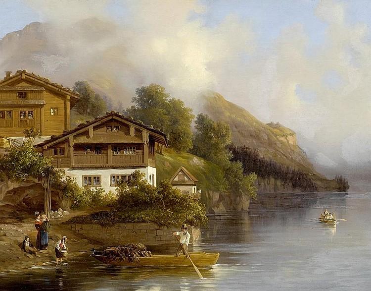 ULRICH, JOHANN JAKOB(1798 Zurich 1877)Old dwelling