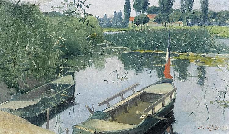 IHLY, JEAN DANIEL(1854 Geneva 1910)River