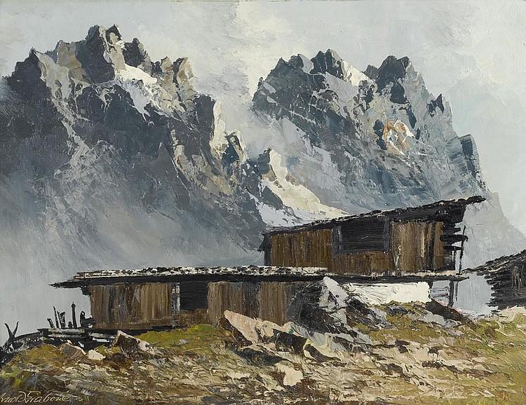 GRABONE, ARNOLD(1896 Munich 1982)Mountain view