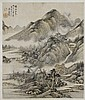 A MOUNTAIN LANDSCAPE BY WU WEIYE (1609-1671)., Weiye Wu, Click for value