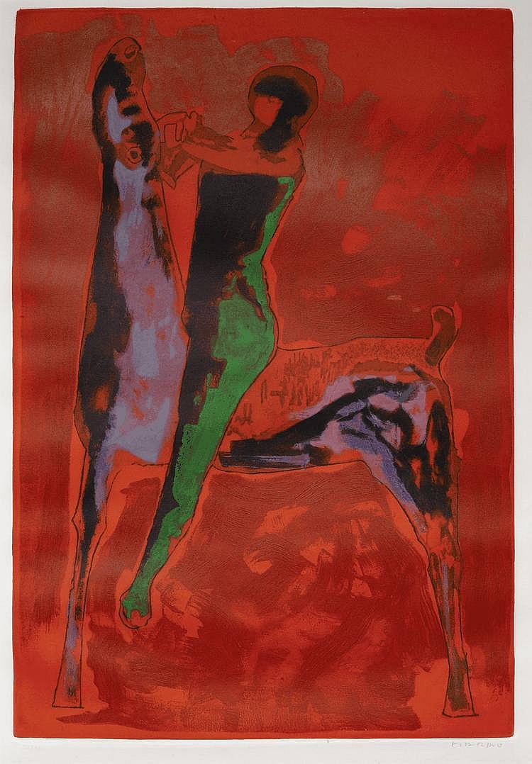 MARINI, MARINOGran Cavaliere. 1978.Colour etching.