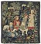 TAPISSERIEFRAGMENT 'MILLE FLEURS', Renaissance,