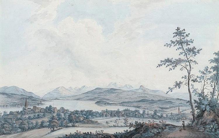 ASCHMANN, JOHANN JAKOB (1747 Thalwil 1809). Vue de