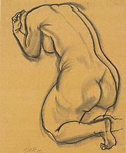 GROSZ, GEORGE(1893 Berlin 1959)Kniender Akt.