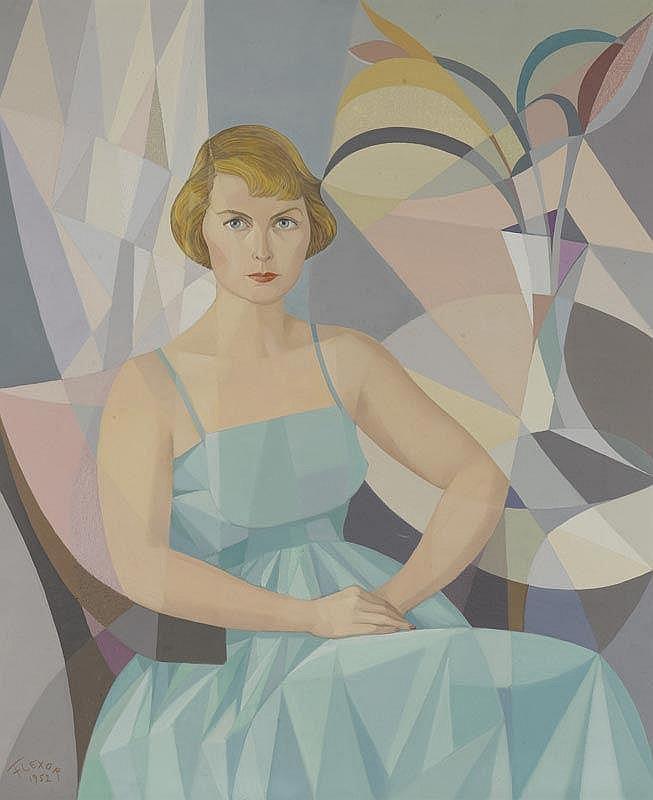 FLEXOR, SAMSON.(1907 - 1971).Portrait of a woman.