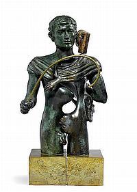 BARÒN, FRANCISCO.(1931).'Hermes'.Bronze. Signed,