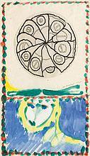 PIERRE ALECHINSKY1927Untitled. 1975.Watercolour,