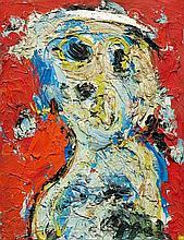 KAREL APPEL1921 - 2006Fille. 1963.Oil on canvas.
