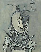 WIFREDO LAM1902 - 1982Totem. 1970.Oil and grease