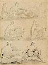 HENRY MOORE1889 - 1986Studies for Sculpture: Seven