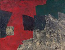 SERGE POLIAKOFF1900 - 1969Composition rouge, gris,