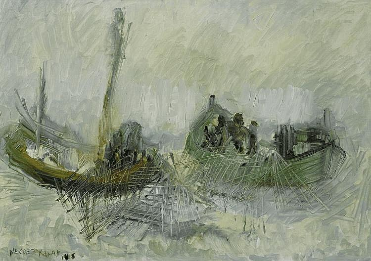 KALAY, NECDET(1932 Istanbul 1986)Fishermen at a