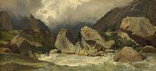 CALAME, ALEXANDRE(Vevey 1810 - 1864 Menton)Torrent